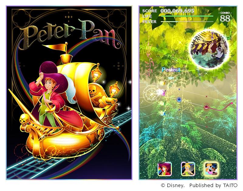 「ディズニー ミュージックパレード」で「ピーター・パン」ピックアップガチャを開催!
