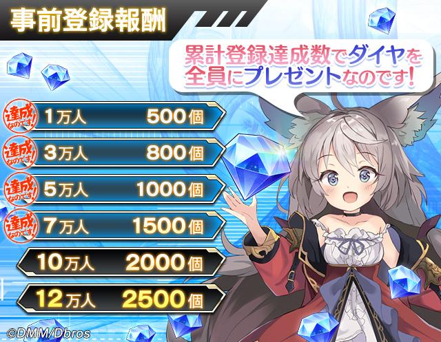 【オーブジェネレーション】事前登録者数7万人突破!ダイヤ×1500配布確定